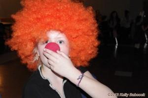 Tegan clownin' around.